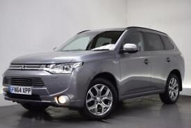 MITSUBISHI OUTLANDER PHEV GX 4H 5d AUTO [NAV/LEATHER] 162 BHP (grey) 2014