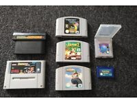 Video games for various 90s consoles