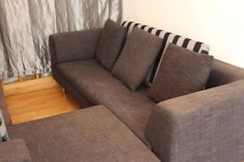 BLACK SOFAS SET