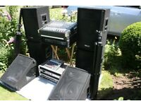 Band complete PA system for sale without microphones
