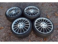 """19"""" Staggered Mercedes AMG C63 Style Alloy Wheels Tyres to suit W212 E Class Pirelli Continental"""