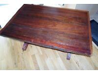 Dark Wood Rustic coffee Table.
