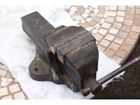 """Metalwork Vice with 3.5"""" Jaws made in England by Woden."""