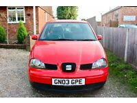 RED SEAT AROSA 0.9L, CHEAP TO RUN, PERFECT LITTLE CAR
