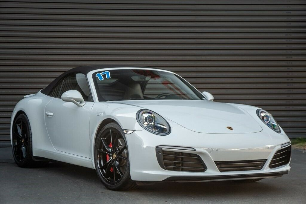2017 Porsche 911 Carrera S 19004 Miles White 2D Cabriolet 3.0L H6 Turbocharged D