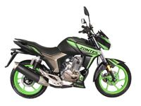 NEW ZONTES SCORPION 125CC SPORTS,OWN THIS BIKE FOR £8.00 PER WEEK