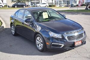 2015 Chevrolet Cruze LT 1.4L Turbo, Amazing Fuel Efficiency, Rea