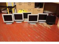 6 Generic Flat Screen Monitors