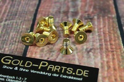 Kreuz Schraube Linsenkopf M6x16 GOLD vergoldet M6 BMW