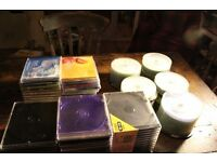 200 cds and a large quantity of cases plus 3 cd stands