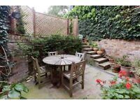 Albert Street NW1: two double bedrooms - two bathrooms - unfurnished - patio garden - available July