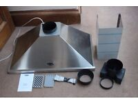 Rangemaster 900mm stainless steel cooker hood with fan & lights & filter etc