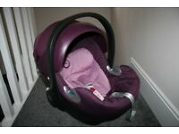 Cybex Platinum Aton Q Baby Car Seat In pink / purple CAN POST