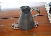 Genuine Tin certified measuring jug Could be for petrol/paraffin. Great condition