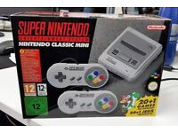 BRAND NEW NINTENDO SNES MINI CONSOLE WITH 2 CONTROLLERS