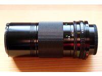 Canon FD 200mm F4 lens