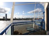 Large duplex 2bed 2bath flat with direct river views - Apollo building Canary Wharf Isle of dogs E14