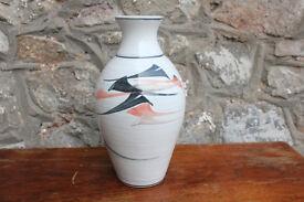 "Beautiful 9.5"" Vintage Handmade Vase Stoneware Jackson Pottery Irish Art Pottery Ireland"