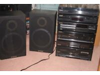Quality Pioneer separate audio system with speakers