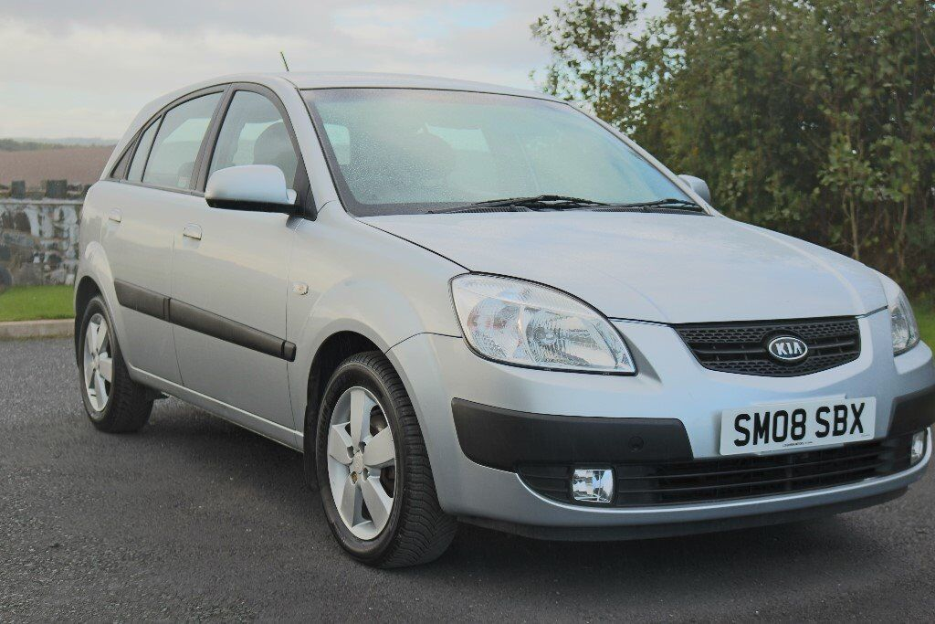 2008 KIA RIO LS, 1.5 CRDI, SERVICED, TWO KEYS, SILVER, LONG MOT, £30 A YEAR TAX