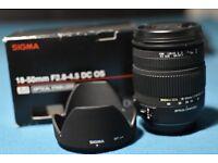 Sigma 18-50 mm f/2.8 DC OS HSM Canon