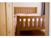 Solid Oak Bed Frame (almost brand new)