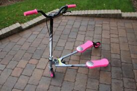 PINK, SILVER AND BLACK FLICKER SCOOTER VGC IDEAL CHRISTMAS GIFT