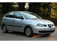 *Beautiful*2003 Seat Ibiza 1.2 5 Door, Met. Silver, 68,000 Miles, 1 Year MOT, Tel.07554 374590