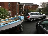 Wayfarer sailing dinghy & galvanised road trailer & trolley. GRP. Safe, reliable, holds value.