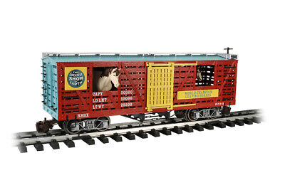 - Bachmann 92719 Circus Animated Moving Horses Stock Car With All Metal Wheels NEW