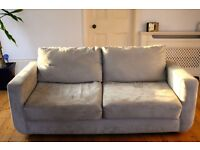 2 Seater Sofa for Sale, removable covers, machine washable, faux suede