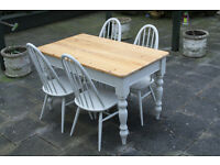 A beautiful shabby chic table and chairs