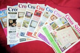 Selection of Needlecraft Cross Stitch Sewing Magazines / Books, 7 BOOKS, Histon