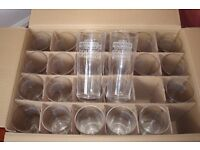 PINT GLASSES, BRAND NEW BOX OF 24 GLASSES FOR ONLY £8