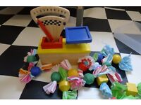 Kids Wooden Toy Weighing Scales and Sweets