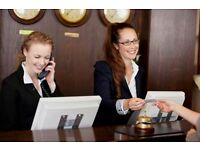 Hotel Receptionist for Hotels in Ilford and Newham, East London