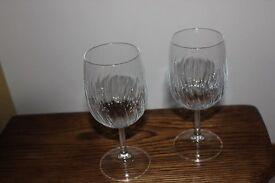 Six quality large wine goblets