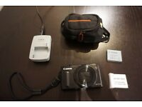 Canon Powershot SX610 HS Digital Camera with 2 Batteries, Charger & Case