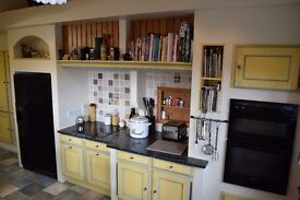 Mobalpa French style kitchen with granite worktops in immaculate condition.