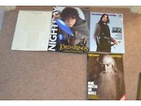 Lord of the rings memorbilia magazines and posters