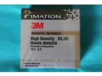 Imation (3M) 3.5 Inch floppy disks. (Box of 10 - Unopened) 8 boxes available.