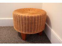 Ikea Dalby wicker / rattan footstool (pouffe/ side table)