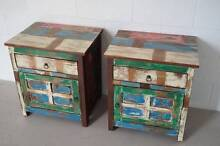 BEDSIDE TABLES PAIR BEACH HOUSE INDUSTRIAL BRAND NEW Buderim Maroochydore Area Preview