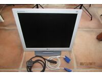 "17"" Flatron PC Monitor with 2 leads. Great condition. On/off switch on front etc."