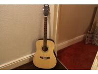 eko acoustic guitar like new