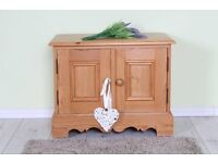 CUTE LITTLE CUPBOARD/TV UNIT SOLID PINE WAXED - CAN COURIER