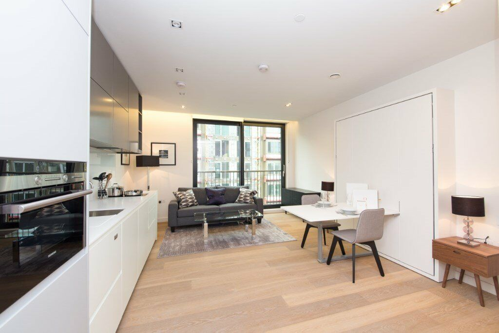 LUXURY DESIGNER FURNISHED STUDIO SUITE IN PLIMSOLL BUILDING N1C FRESHWATER APARTMENTS CONCIERGE GYM