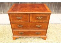Reproduction Wood Inlaid veneered Chest of Drawers 4 drawer.