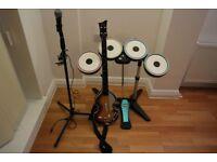 THE BEATLES Rockband * XBox 360 Drum Kit * Kick Pedal / Drums / Sticks / Shade *