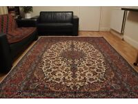Unique high quality hand knotted Persian Carpet never used 300cm X 200cm foundation Silk pile wool
